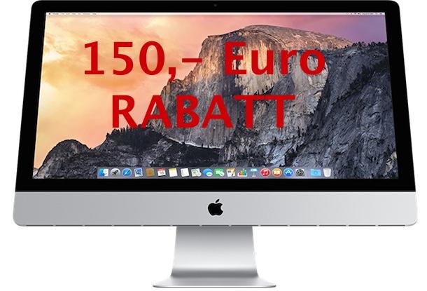 150 euro rabatt beim retina imac und macbook pro 100 euro. Black Bedroom Furniture Sets. Home Design Ideas