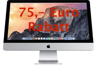 75 euro rabatt auf retina imac mit mactrade gutschein. Black Bedroom Furniture Sets. Home Design Ideas