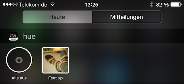 philips hue app update bringt ios 8 widgets macerkopf. Black Bedroom Furniture Sets. Home Design Ideas