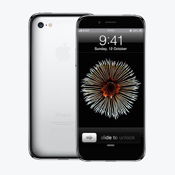 iphone 6s konzept randloses display edelstahl geh use. Black Bedroom Furniture Sets. Home Design Ideas