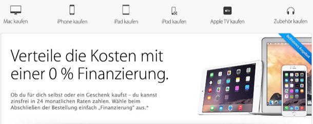 prozent finanzierung im apple store auf macbook pro imac iphone ipad und co