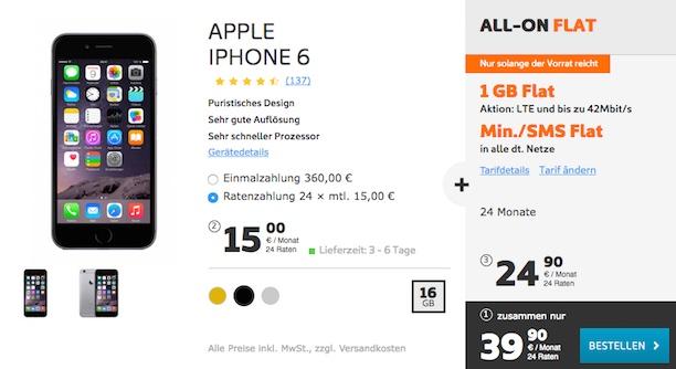 iphone 6 simyo flat
