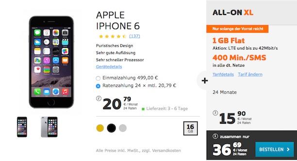 iphone 6 simyo xl