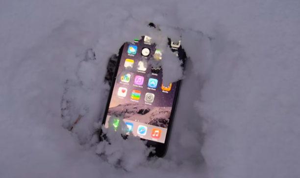 iphone experiment mit schnee
