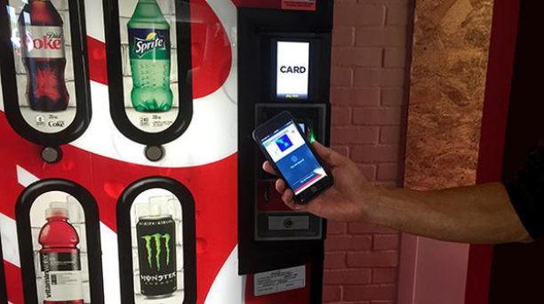 apple pay am getränkeautomat
