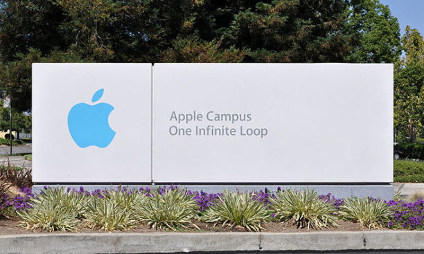 Schild vom Apple Campus
