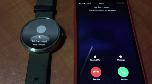 android wear iphone