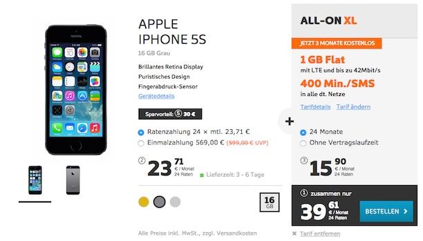 iphone 5s mit vertrag bei simyo zum sparpreis macerkopf. Black Bedroom Furniture Sets. Home Design Ideas