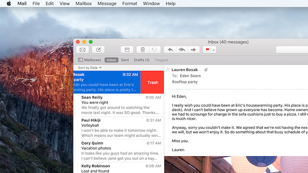 OS X 10.11 Mail