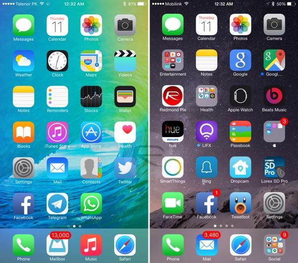 iOS 9 vs. iOS 8: Screenshots zeigen Veränderungen › Macerkopf Ios Wann on