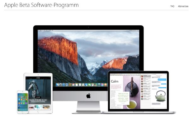 iOS 9 und OS X 10.11: öffentliche Beta als Download