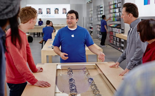 store - apple watch glasvitrine