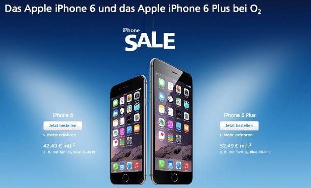 iphone sale bei o2 rabatt auf iphone 6 und iphone 6 plus. Black Bedroom Furniture Sets. Home Design Ideas