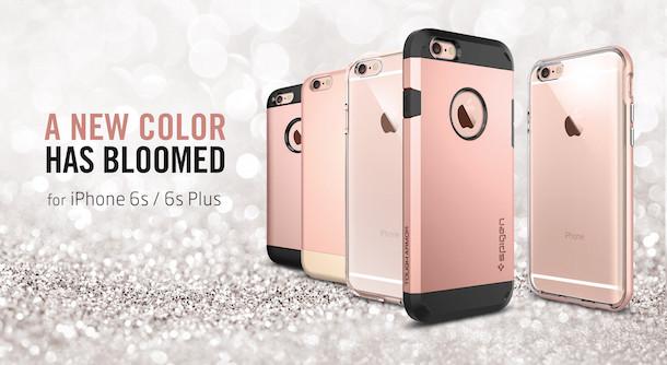 iphone 6s h llen tauchen auf spigen mit case in ros gold. Black Bedroom Furniture Sets. Home Design Ideas