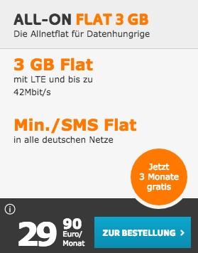 all-on flat 3gb