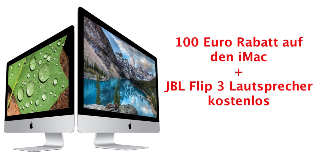 neuer imac 2015 100 euro rabatt 0 prozent finanzierung. Black Bedroom Furniture Sets. Home Design Ideas
