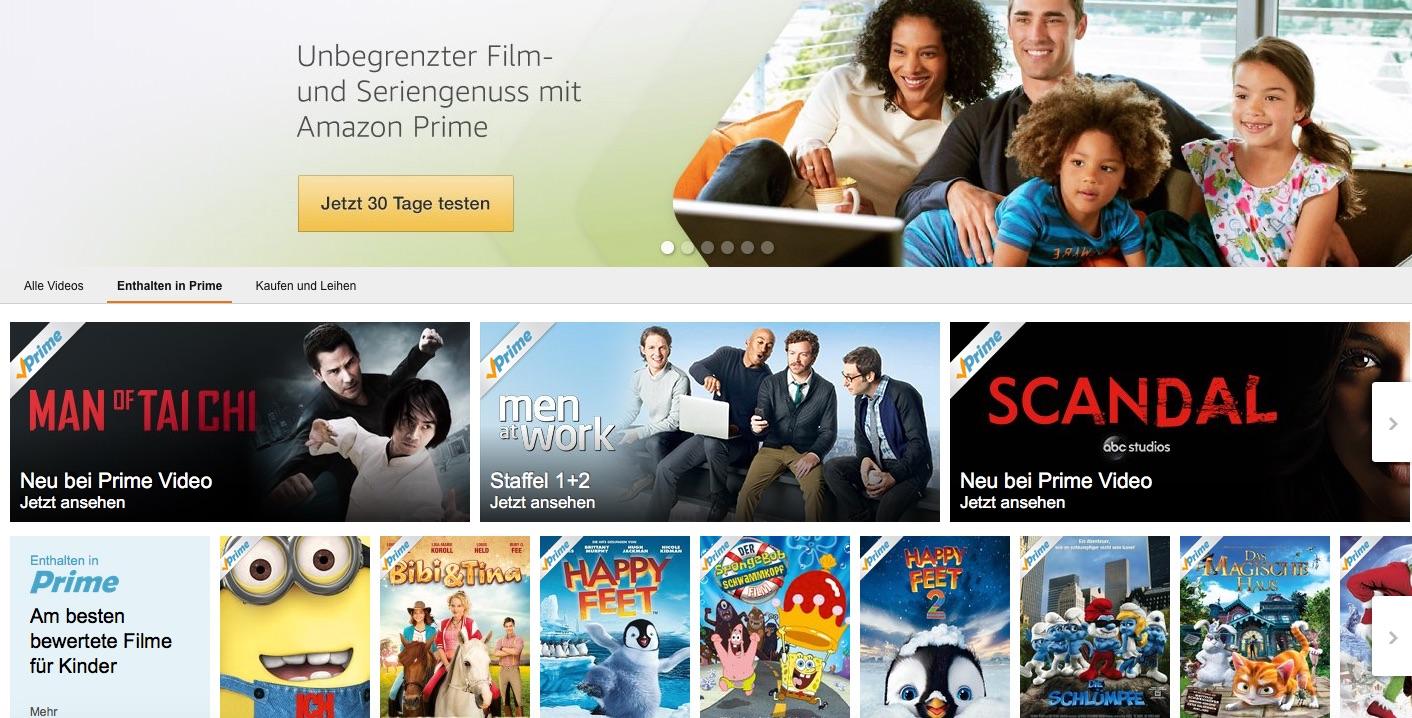 Amazon Prime Werben