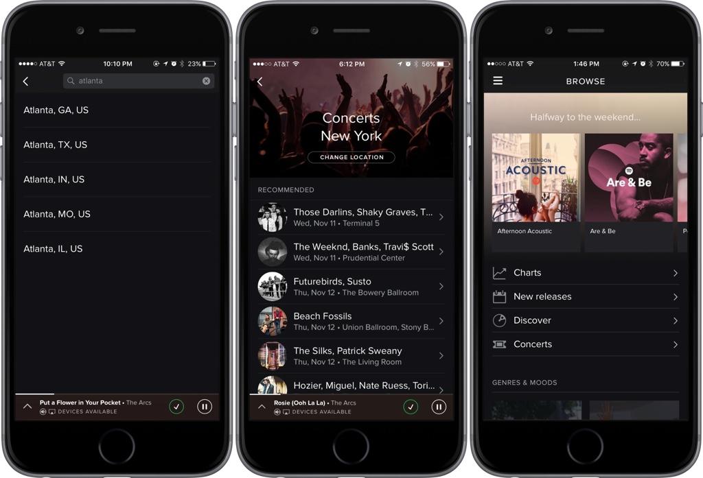 Spotify Konzerte
