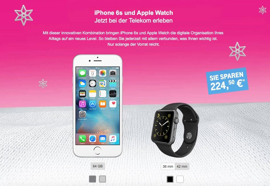 apple bundle 225 euro billiger iphone 6s 64gb apple. Black Bedroom Furniture Sets. Home Design Ideas