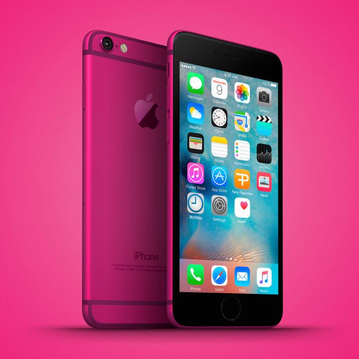 iphone 6c mockup zeigt 4 zoll display abgerundete kanten neue farben macerkopf. Black Bedroom Furniture Sets. Home Design Ideas