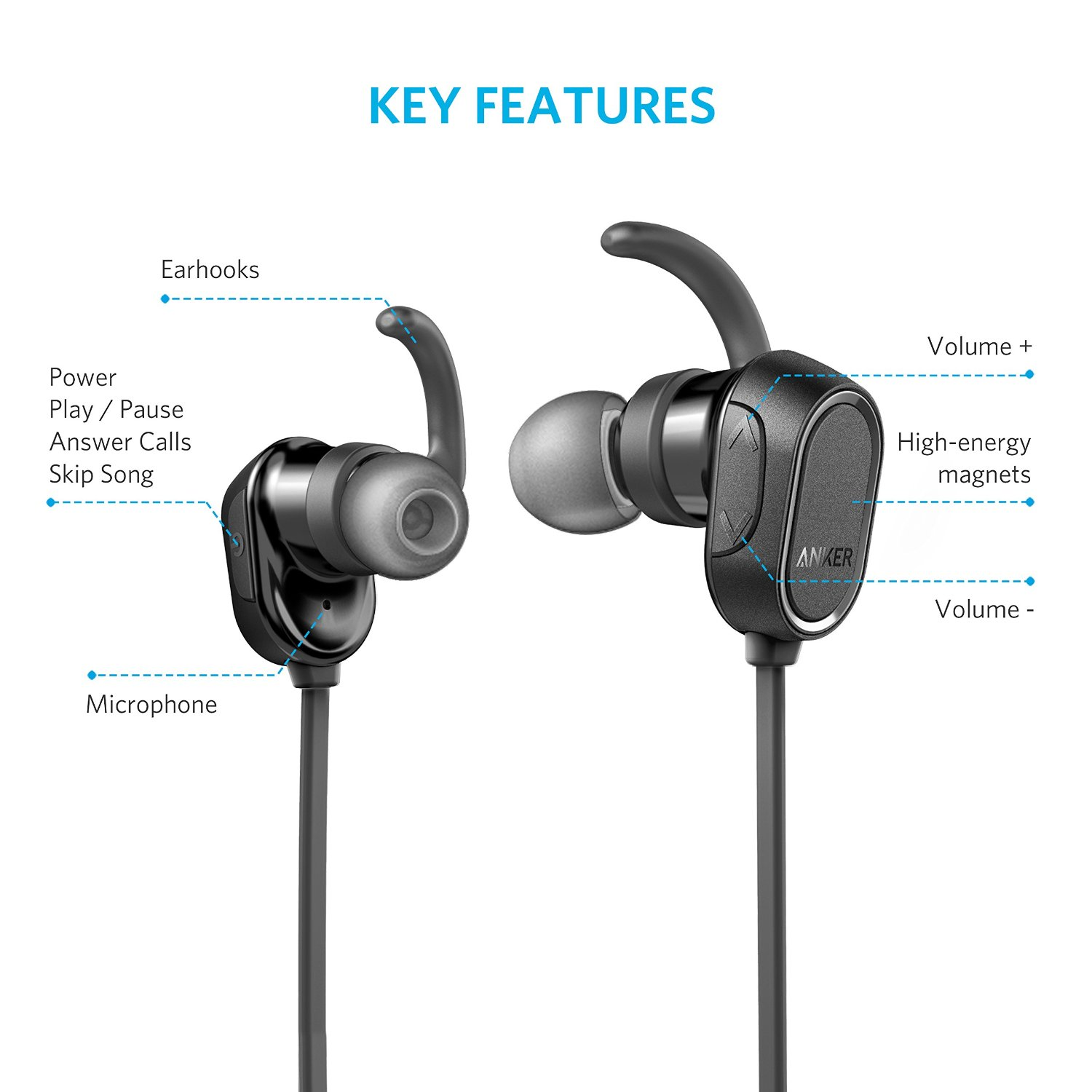 anker soundbuds sport bluetooth in ear kopfh rer mit 24. Black Bedroom Furniture Sets. Home Design Ideas