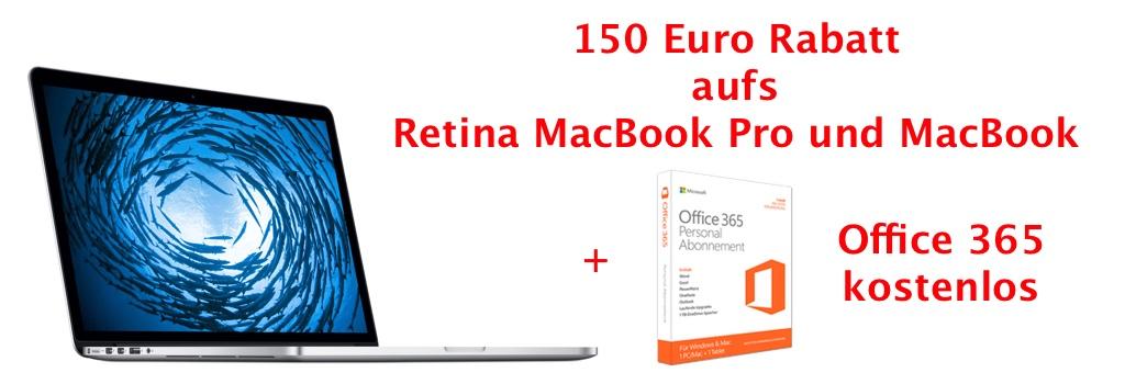 150 euro rabatt auf macbook pro und imac 0 prozent. Black Bedroom Furniture Sets. Home Design Ideas
