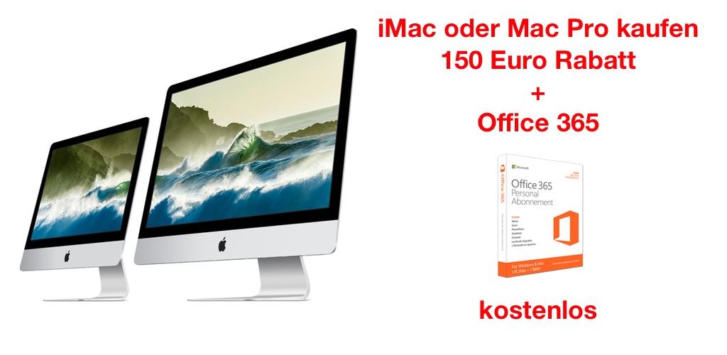 150 euro rabatt auf imac und mac pro office 365. Black Bedroom Furniture Sets. Home Design Ideas