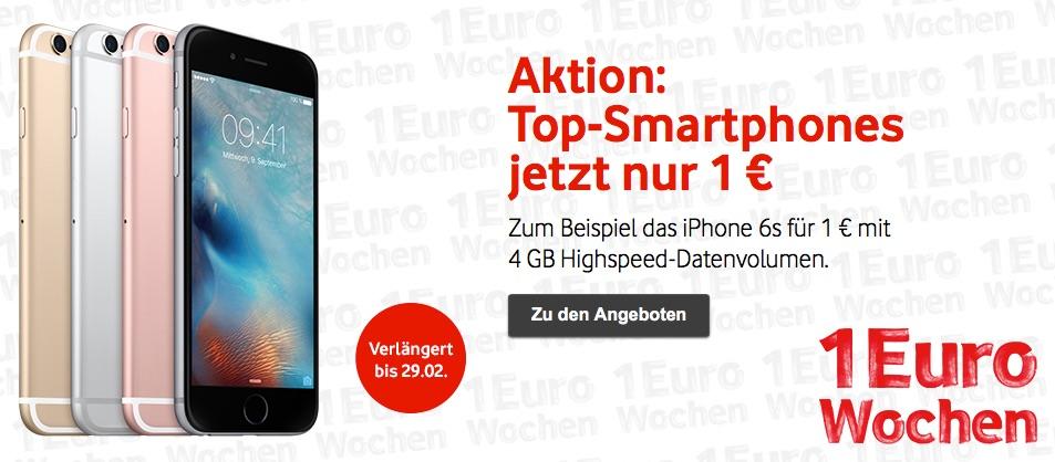 vodafone 1 euro wochen iphone 6s und weitere smartphones. Black Bedroom Furniture Sets. Home Design Ideas