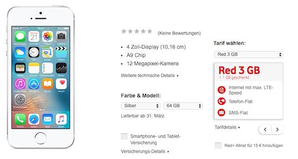 Vodafone iPhoneSE