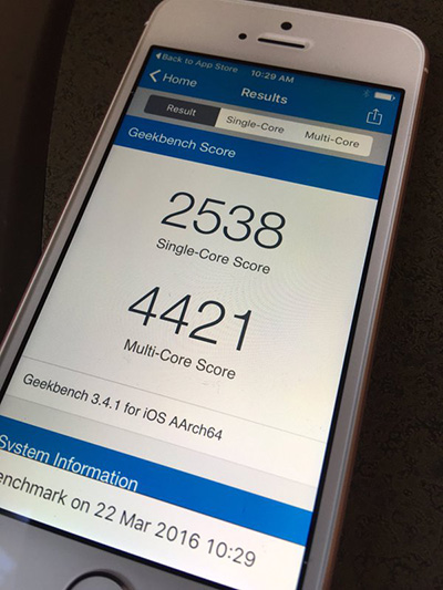 iPhone SE Geekbench