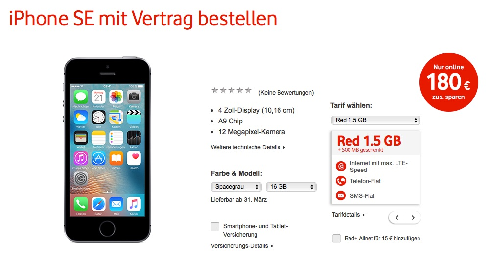Vodafone Vertrag Iphone Se