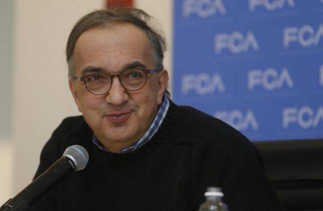 Sergio Marchionne, CEO of Fiat Chrysler, speaks at the North American International Auto Show in Detroit, Michigan January 11, 2016.  REUTERS/Rebecca Cook