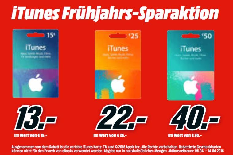 Media Markt: iTunes Karten günstiger + Rabatt auf iPad Pro ...
