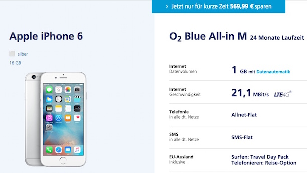 o2 all-in m iphone 6