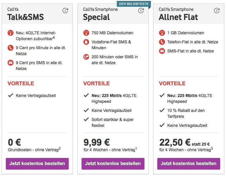 Callya Karte.Vodafone Callya Lte Speed Ab Sofort Mit Bis Zu 225mbit S