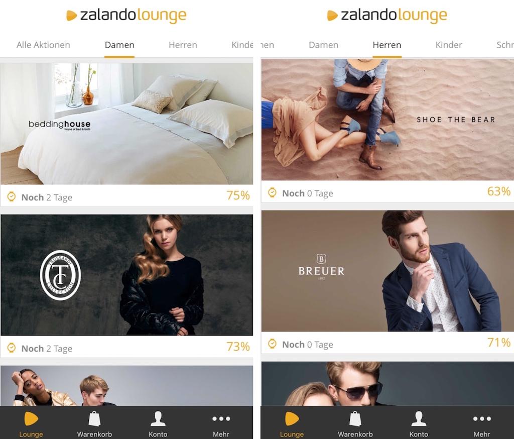Zalando Lounge Der Online Shopping Club im App Dress › Macerkopf