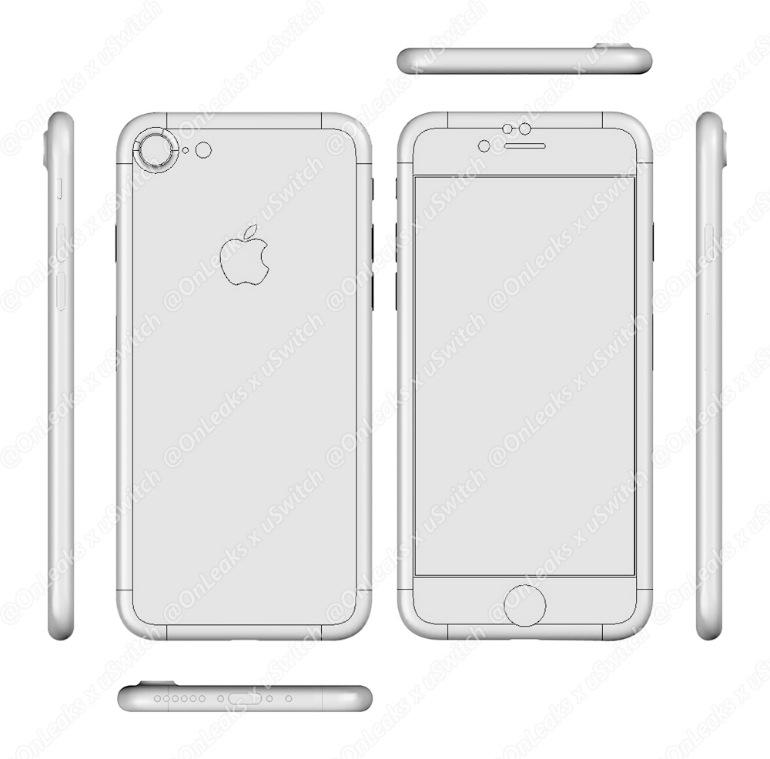 neue iphone 7 zeichnungen aufgetaucht dual kamera und. Black Bedroom Furniture Sets. Home Design Ideas