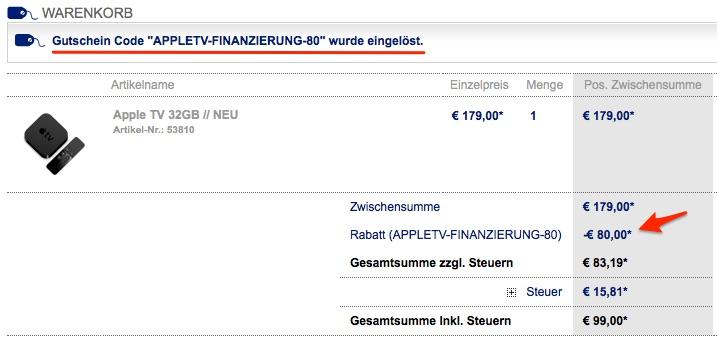 80 euro apple store gutschein