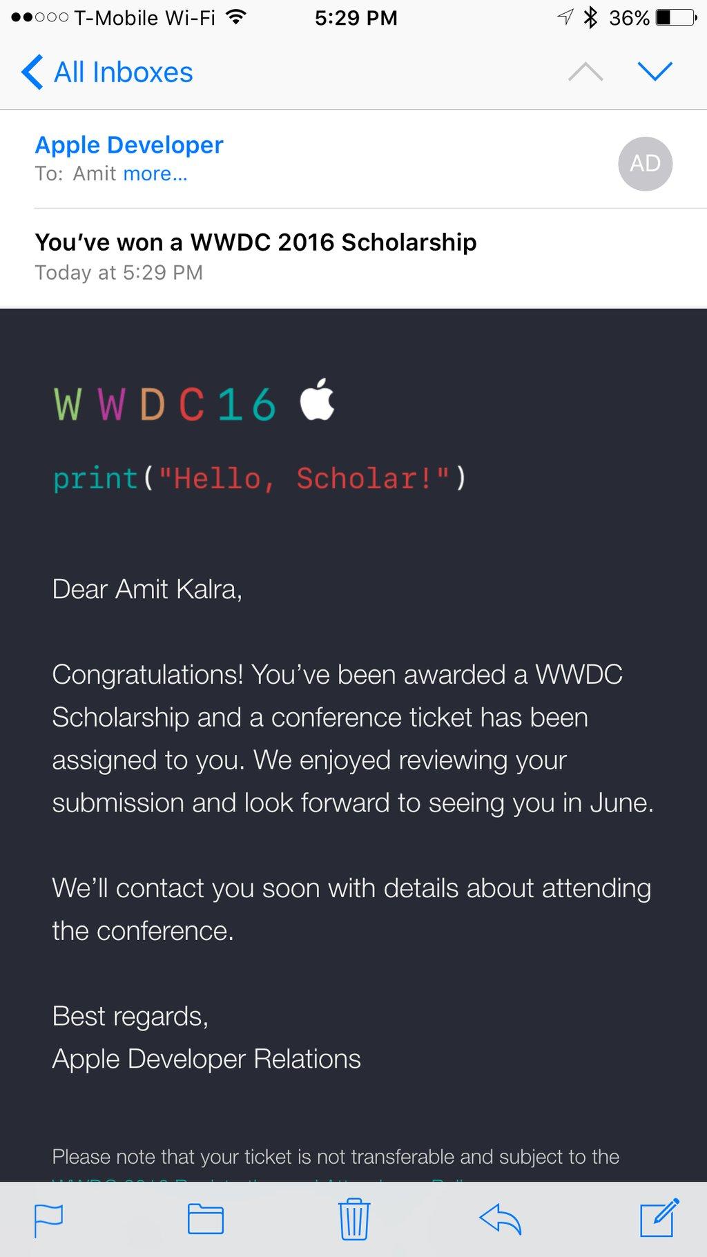 Apple Informiert WWDC-Stipendiaten 2016 › Macerkopf