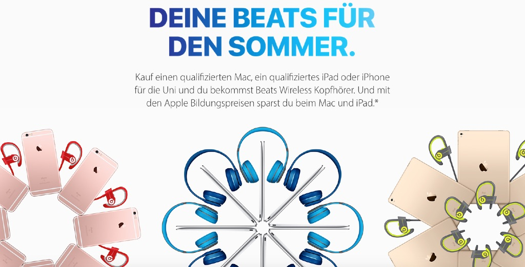 apple back to school 2016 promo in deutschland gestartet. Black Bedroom Furniture Sets. Home Design Ideas