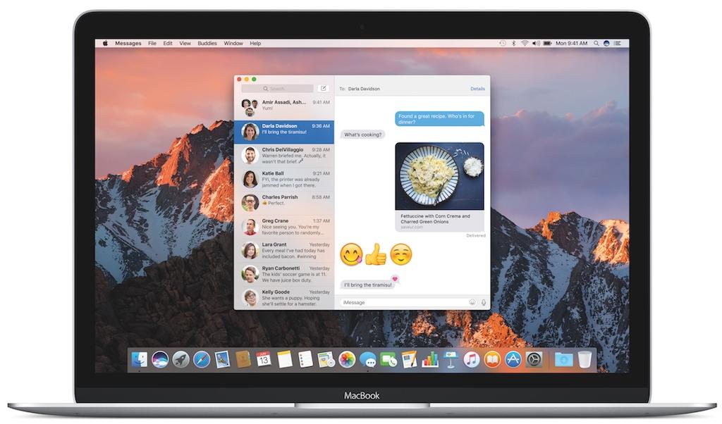 macOS Sierra Nachrichten