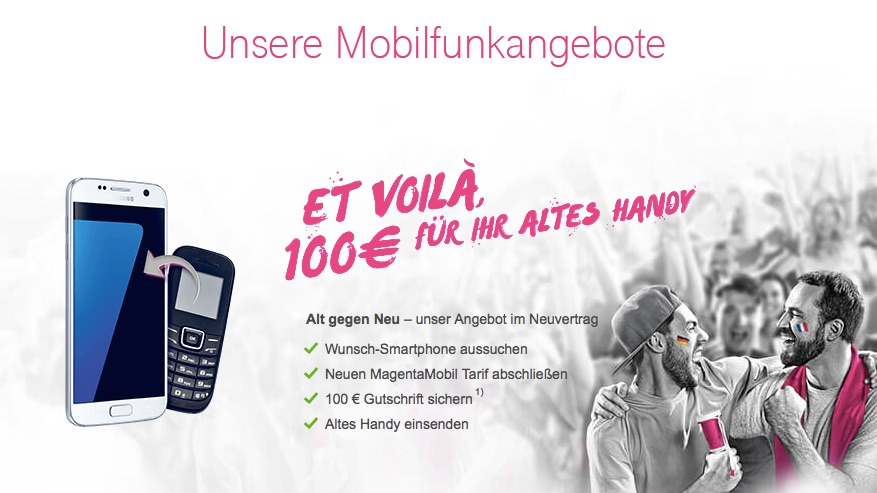 iphone 6s mit vertrag billiger kaufen 100 euro gutschrift f r altes handy von der telekom. Black Bedroom Furniture Sets. Home Design Ideas