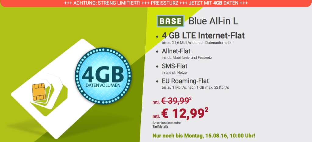 allnet flat inkl 4gb lte internet flat nur 12 99 euro pro monat macerkopf. Black Bedroom Furniture Sets. Home Design Ideas