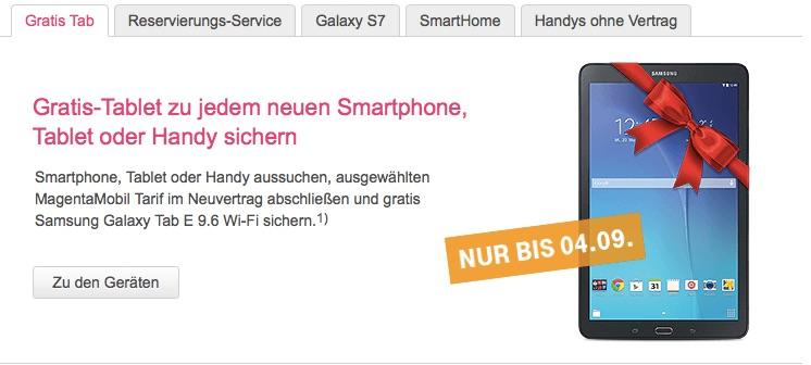 Gratis Tablet Aktion Der Telekom Iphone 6s Oder Anderes Smartphone