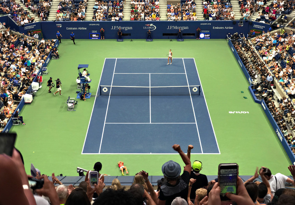 NEW YORK, NY - SEPTEMBER 10: Angelique Kerber of Germany celebrates her victory in 3 sets against Karolina Pliskova of Czech Republic in the women's final onDay Thirteen of the 2016 US Open at the USTA Billie Jean King National Tennis Center on September 10, 2016 in Queens. (Landon Nordeman for ESPN)