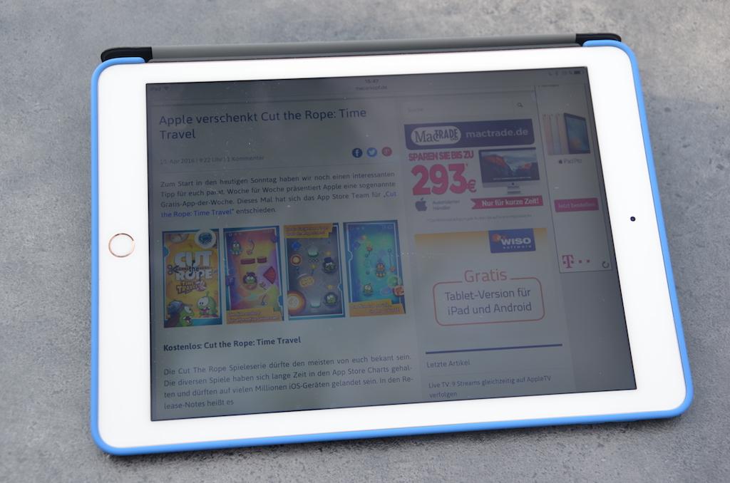 Test: 9,7 Zoll iPad Pro › Macerkopf