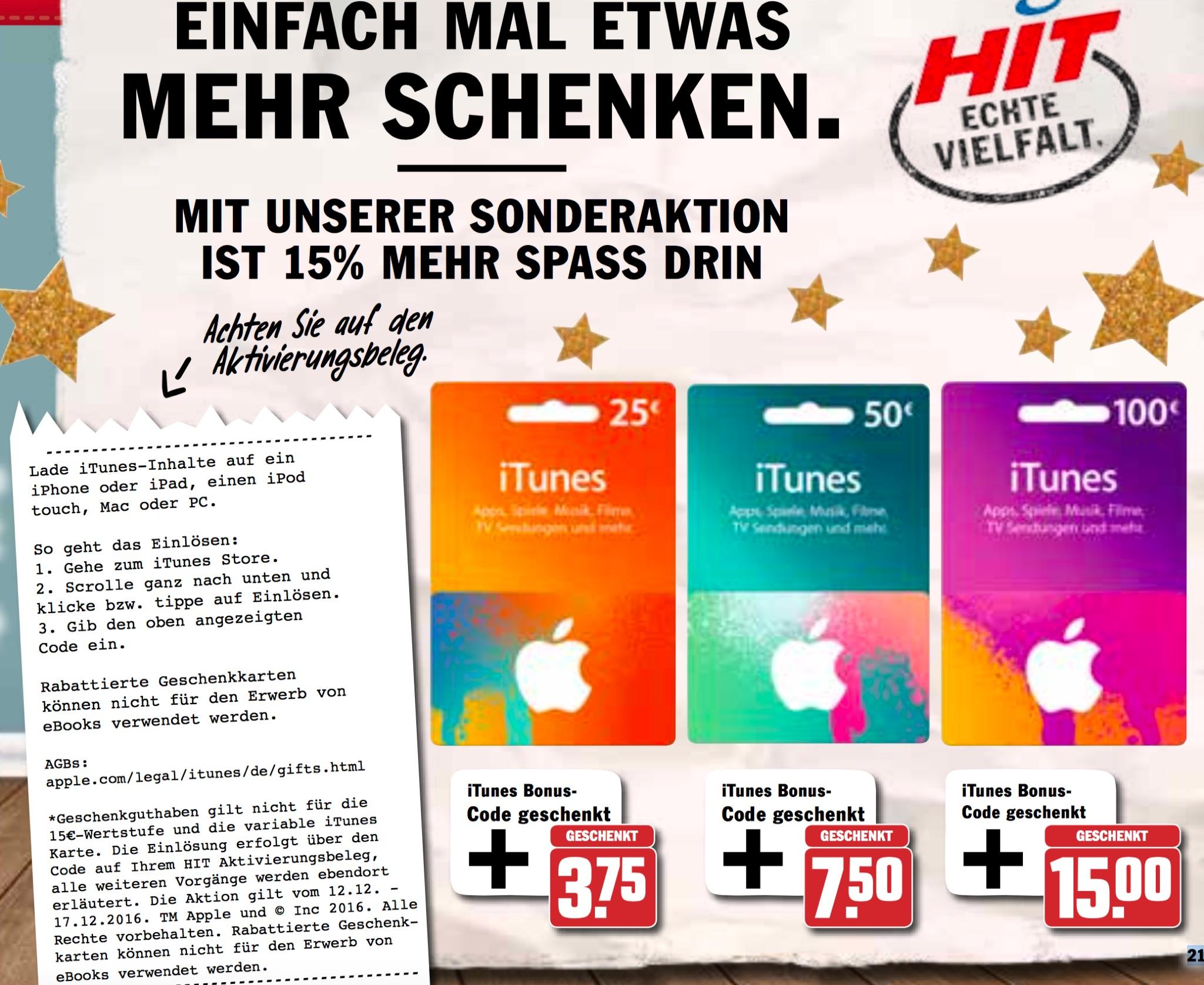 Itunes Karten Rabatt Bei Hit Müller Und Medimax Macerkopf