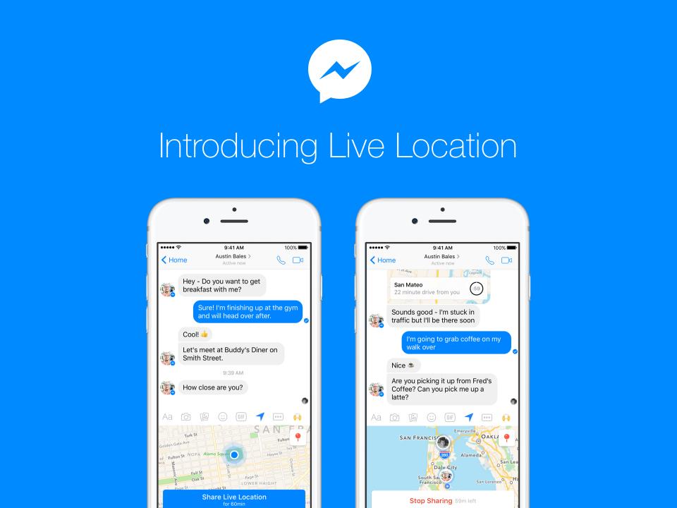 Live Location: Facebook Messenger mit neuer Standort-Funktion