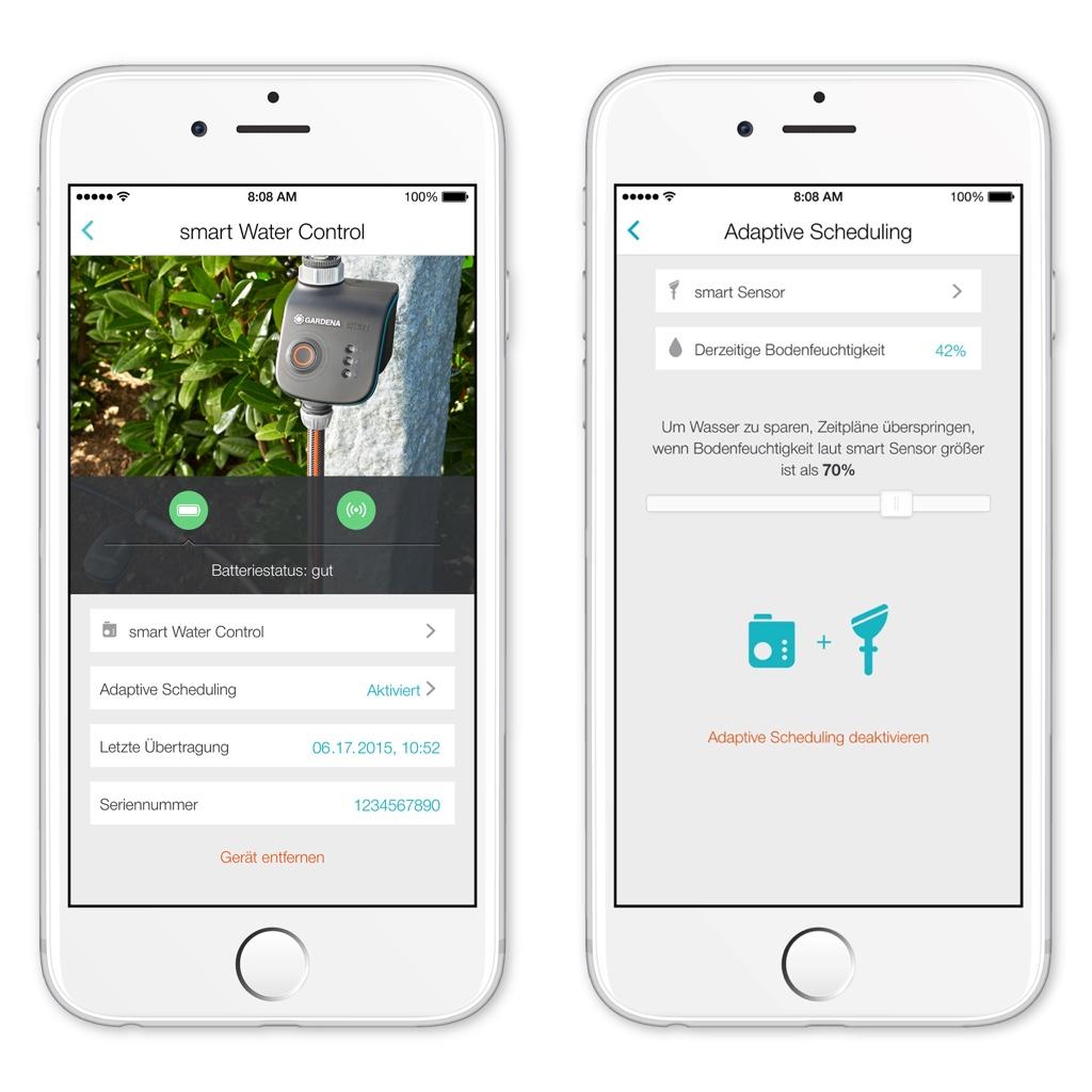gardena smart system firmware update bringt adaptive scheduling macerkopf. Black Bedroom Furniture Sets. Home Design Ideas