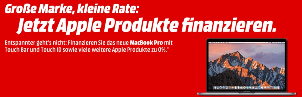 media markt 0 prozent finanzierung auf iphone 7 macbook pro imac ipad pro und mehr macerkopf. Black Bedroom Furniture Sets. Home Design Ideas